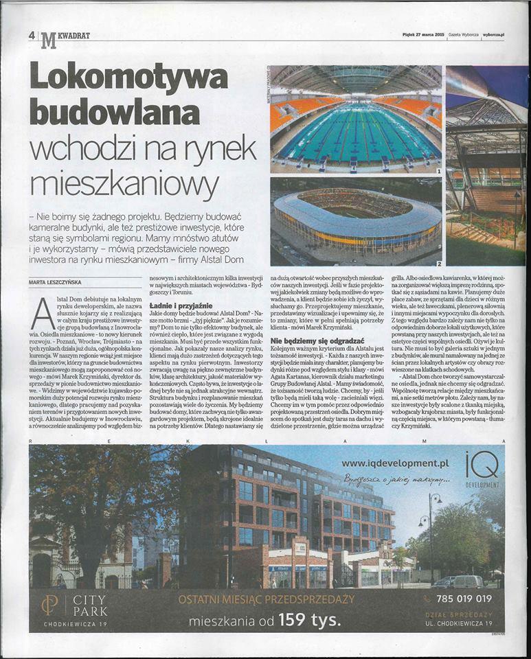Gazeta wyborcza M2- rynek deweloperski Marek Krzyminski 2